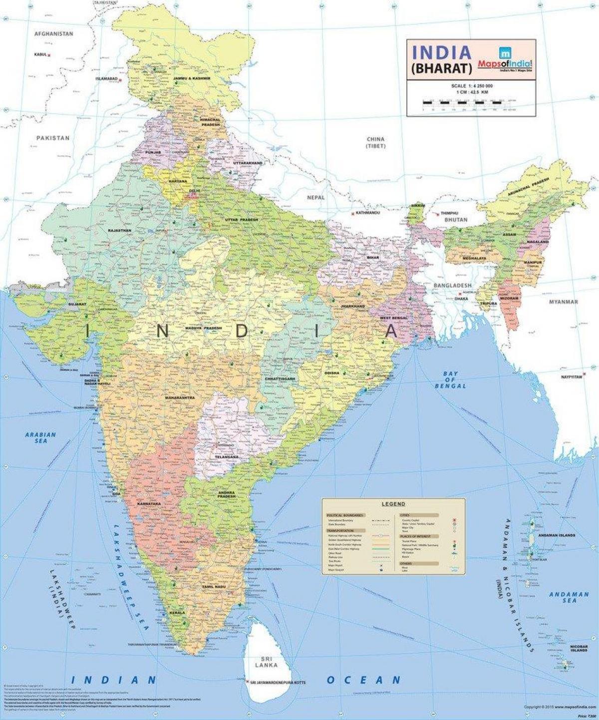 Südasien Karte.Atlas Karte Von Indien Atlas Karte Von Indien Südasien Ostasien