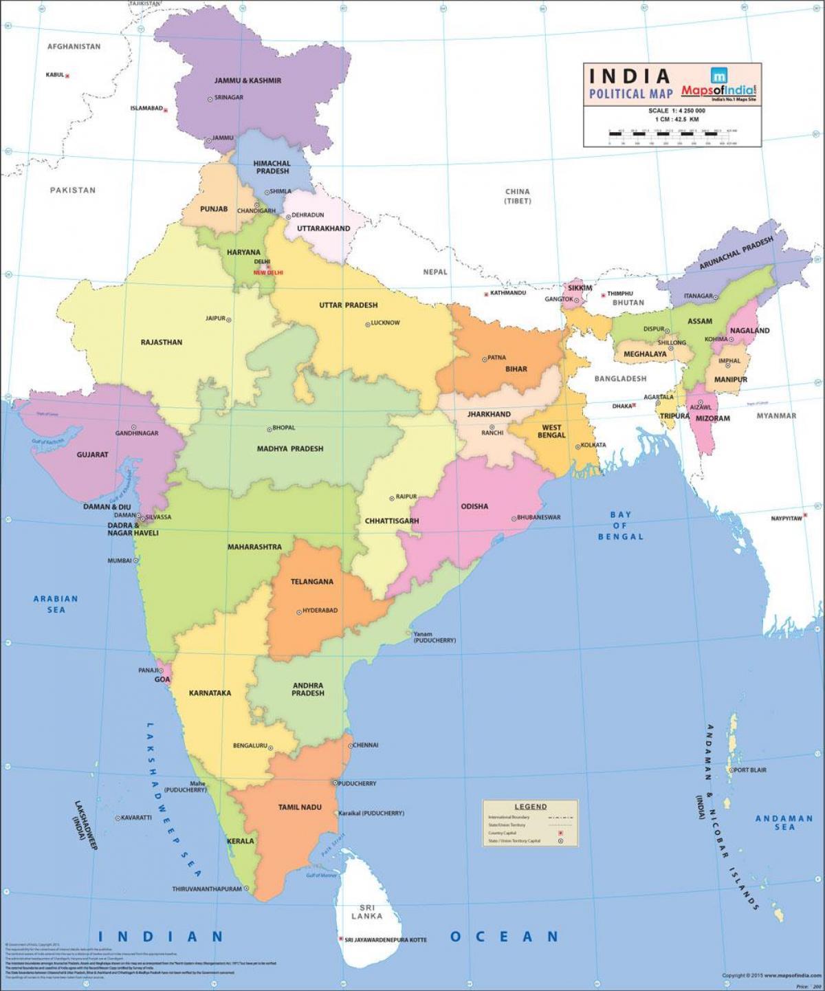 Politische Karte Asien.Indien Politische Karte Indien Politische Karte Süd Asien Asia