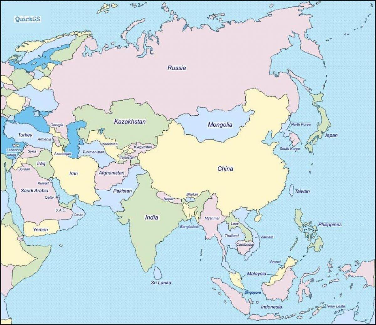 Karte Iran Nachbarlander.Karte Von Indien Und Seinen Nachbarstaaten Indien