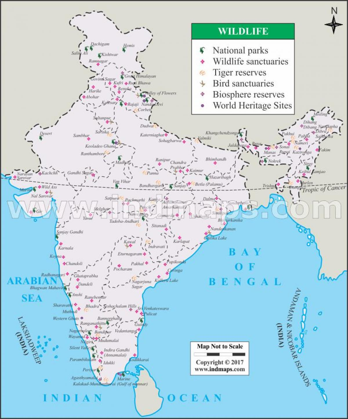 national parks in india map pdf