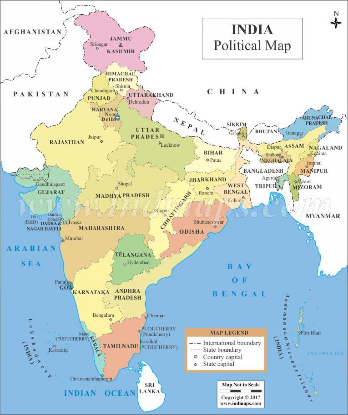 Südasien Karte.Politische Karte Von Indien Politische Karte Indien Südasien